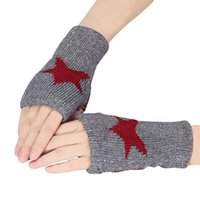 Wholesale Amazing Women Men Knitted Wrist Warmer Winter Fingerless Gloves Unisex Mitten Christmas Gifts