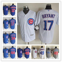 Wholesale New Men s Cool Base Chicago Cubs Jersey Kris Bryant Anthony Rizzo Kyle Schwarber Jake Arrieta Baseball Jerseys