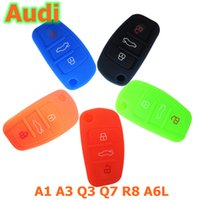 Wholesale Car Silicone Key Case Cover Stretchable Buttons for Audi A1 A3 Q3 Q7 R8 A6L