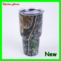 Wholesale 4 Designs oz Camouflage Yeti Rambler Tumbler Cups CAMO Vacuum Insulated Vehicle Coffee Beer Bottles Camouflage Colored Yeti Coolers