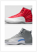 Wholesale Cheap Hot Shoes Online - 2016 cheap online hot Sale Free shipping Retro 12 taxi basketball Shoes Flu Game gamma blue Playoff French Blue gym red sneaker size 8-13