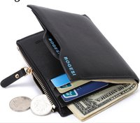 Wholesale Christams Present PU Leather Men s Wallet Two Fold Cash ID Credit Card Receipt Holder Coin Purse