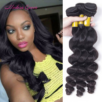 Wholesale 7A Hair Raw Indian Looses Curls Human Weave Bundles Indian Loose Wave Hair Extensions Bundles Cheap Loose Wave Indian Hair Wefts