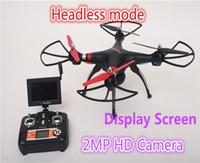 2.4GHz RC Quadcopter Drones avec caméra aérienne RC Drone jouets d'hélicoptère avec caméra 2MP HD et en temps réel écran transmission d'affichage