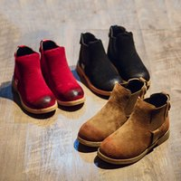 Wholesale Fashion Kids Boots Boys and Girls Casual Shoes Child Slip On Autumn Shoes Breathable Comfy Children Booties VX0130
