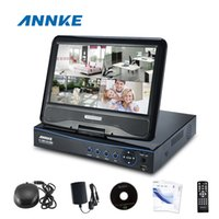 Wholesale ANNKE CH Hybrid Video Recorder DVR HVR Built in quot LCD Monitor H AHD HDMI Output cctv systems