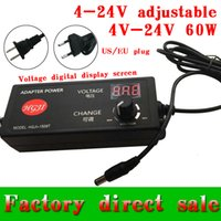 Wholesale 30pcs bag Laptop djustable V V adapter with display screen of voltage V v v V8V5A W charger dc5 mm US EU plug