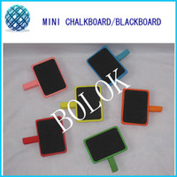 Wholesale mixed color mini wooden chalkboard blackboards clip for wedding Party Decorations