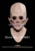 aliens prop - Realistic UFO Alien Full Adults Head Mask Scary Alien ET Latex Masks Creepy Costume Party Halloween Cosplay Props