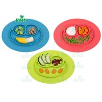 baby silicone placemat - 100 food grade silicone baby placemat Cheap silicone placemat and plate baby plate set with colors F023
