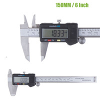 Wholesale 6 quot mm Stainless Stell Housed Fractional Digital Vernier Caliper Micrometer With LCD Display