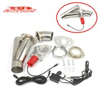 Wholesale SR quot quot quot Electric Exhaust Cutout Y Pipe Cut Out Racing Exhaust Valve System Kit With Wireless Remote