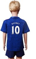 Wholesale 2016 rooney soccer jersey football jersey kits for kids children youth