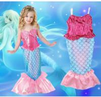 Wholesale Kids Girl Mermaid dress Girls Mermaid Tail Swimmable Costume Cosplay Summer Dress Ariel Cartoon Dress KKA464