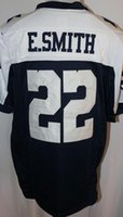 Wholesale Men s Game Jersey Troy Aikman Roger Staubach Emmitt Smith Michael Irvin White Blue Thanksgiving Jerseys