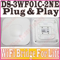 Wholesale DS WF01C NE WiFi bridge MB DRAM MB Flash wireless bridge For Surveillance Cameras in lift DS WF01C N plug and paly no color box