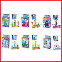 Cheap RETAIL BOX Frozen Anna Elsa Building Block toy puzzle game Action figure Doll Minifigures educational toys children kid birthday gift 100081