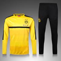 Wholesale Best thai quality Borussia Dortmund jerseys Men Real Madrid Training suit shirt Uniforms