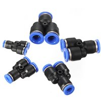 Wholesale Brand New Pneumatic Equal Y Connector Push In Fittings For Air Water Hose Tube mm Lowest Price