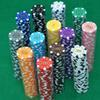 Wholesale Hot and New Poker Chips of Five Different Values ABS Material choose from Many different colors