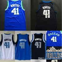 basketball dirk - Cheap Hot Sale Dirk Nowitzki Jersey White Blue Black City View Throwback Stitched Basketball Jersey