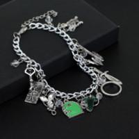 axe beads - Lord of the Hobbit Charm bracelets Frodo Hobbit feet axe sword bow wizard Fairy Door bracelet For Men And Women