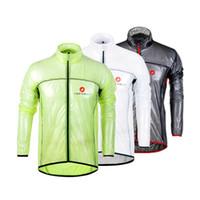 Wholesale 2016 New Tour De France Cast elli Cycling Raincoat Dust Coat Wind Bike Jacket Jersey Bicycle Raincoat Windbreak Waterproof Green White Grey