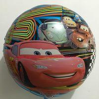 baby shower car - Lucky inch Round Cartoon Cars Balloons Foil Helium Balloon Baby Shower Toys Mylar Ballon Birthday Party Decoration
