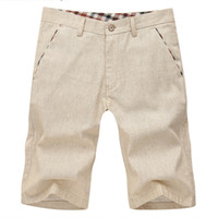 Wholesale Mens Casual Shorts Brand New Cotton and Linen Shorts Men Solid Summer Short Pants Plus Size MS001