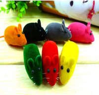 Wholesale Practical Pile Coating Soft Rubber Cat Toy Mouse Pattern Phonate Sound Toys Pet Toy for Teeth Hot Sales