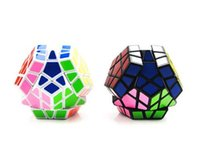 Wholesale fashion designs Megaminx Magic Cubes Pentagon Sides Sticker Dodecahedron Toy Puzzle Twist for baby gift D692