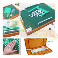 Wholesale new Small Travel Mahjong set Mini Mahjong portable Mahjiang tiles with table traditional chinese family Board Game