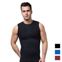 Wholesale Mens Seamless Sports Tank Top Slimming Body Shaper Corsets Waist Trainer Top Sweat Wicking Vest Quick Dry Fitness Underwear