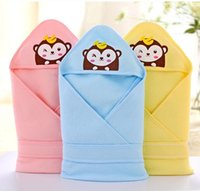 baby monkey for sale - Most popular baby hold blankets baby Swaddling with monkey pattern colors in stock for sale