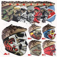 balaclava designs - 12 Designs Neoprene Full Skull Face Masks Halloween Costume Party Face Mask Motorbike Ski Snowboard Sports Cycling Balaclava CCA5028