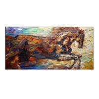 al knife - Pinturas Al Oleo Cuadros Hand painted Abstract horse modern knife oil paintings on canvas On Canvas Painting Decoration