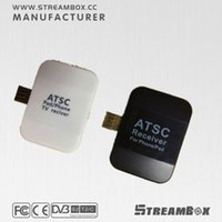 Wholesale Mini Streambox ATSC Dongl TV Receiver Watch with Free Digial TV anywhere anytime Pad USB TV
