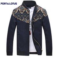 Wholesale Port amp Lotus Men Jacket New Casual Men Coats Print Fashion Slim Fit Men Clothing Veste Homme Jaqueta De Couro Masculina103