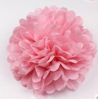 balls paper decorations - 10pcs Inch Colors Tissue Paper Pom Poms Blooms Flower Balls Packaging For Party Decoration Wedding Christmas Ornament