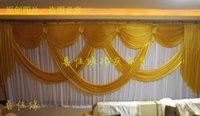 Wholesale 3m mwedding stylist backdrop Party Curtain Celebration Stage Performance Background Satin Drape wall valance