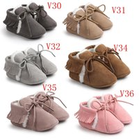 Wholesale baby moccasins winter kids moccs baby shoes sandals fringe shoes hot moccs BX201