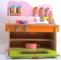 baby health food - Baby Toys Play Food Kitchen Set Wooden Toys For Children Kids Environmental Health Kitchenette Education Christmas Birthday Gift