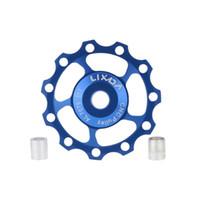 Wholesale LIXADA T MTB Bike ceramic bearing jockey wheels pulleys for Mountain Road bicycle colors