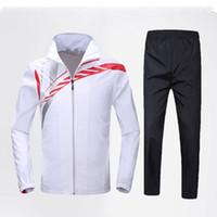 Wholesale Badminton Set Jacket Pants Fashion Badminton Groups Sportswear Jacket and Pants Breathable VJ01