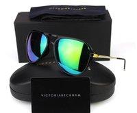 beckham pink - 2016 Victoria Beckham polarized sunglasses women men brand designer UV400 VB Vintage pilots sun glasses Male with box