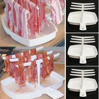 bacon tray - New Microwave Bacon Rack Hanger Cooker Tray Cook Bar Crisp Breakfast Meal Home Dorm Use Tools