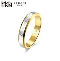amazon wedding bands - Amazon K gold plated jewelry lovers explosion models fashion trade forever love ring Stainless Steel Jewelry