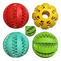 Wholesale New Dog Toys Pet Puppy Chews Squeaker Squeaky Plush Pet Dog Toy Colorful Rubber Ball with Dog s Teeth