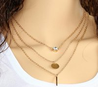 Wholesale 2016 New arrival charm jewelry women necklaces steampunk pendants Copper beads Multilayer necklace EXL111