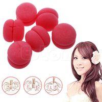 Wholesale 18pcs Soft Balls Soft Sponge Hair Care Curler Rollers New